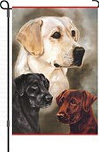 Brownrio Garden Flag for Party Decorative, Labrador Retriever Garden - Accessories Labrador Retriever Decorative