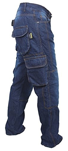 Newfacelook Denim Cargo Motorbike Sports Jeans Aramid Protection Lining I-101 Blue W34 L34 by Newfacelook (Image #2)