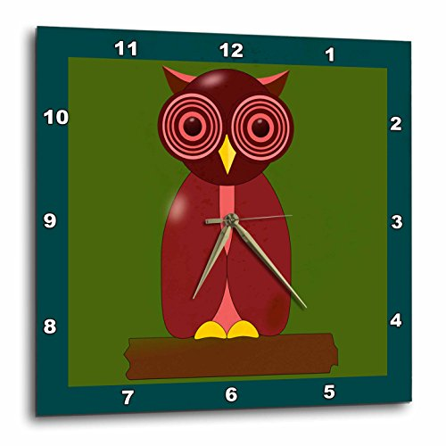 Wise old Owl Cartoon Wall Clock, owl wall decorations