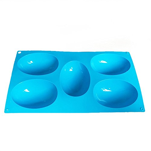 X-Haibei Half Egg Cake Chocolate Ice Cream Baking Pan Oval Dome Soap Silicone Mold