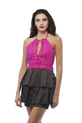 hot pink and black cocktail dresses - 9
