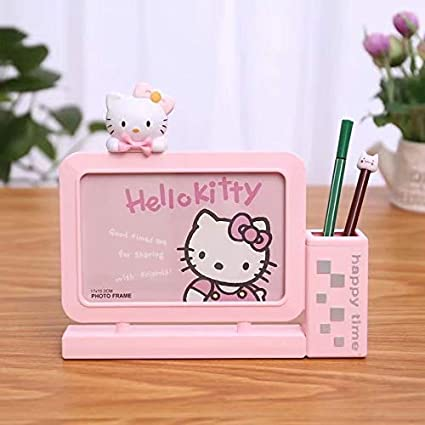 Cutest Cartoon Table Top Photo Frames with Pen Stand for Kids (21x4.2x22 cms.)