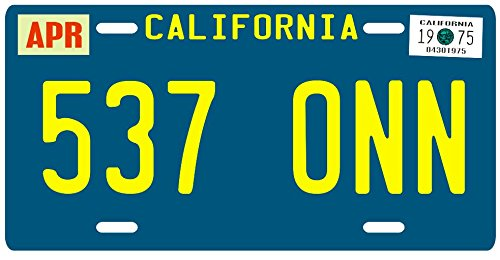 Starsky and Hutch 1975 California 537 ONN License Plate (Starsky And Hutch Season 3 compare prices)