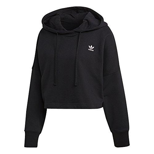 Cropped Adidas Con W Capucha Sudadera Negro Sc U5H5xqPR