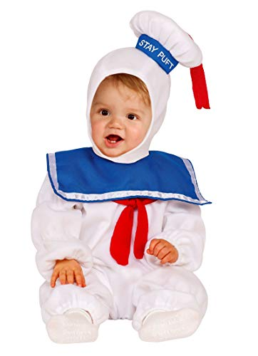 Rubie's 510168 Size 2T Stay Puft Man Ez On Romper Ghostbusters Infant Toddler White -