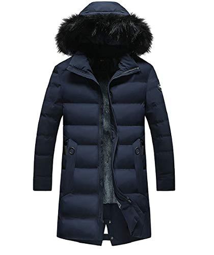 Fur Fleece Winter Faux Down 1 Lined Jackets Gocgt Coat Hooded Men Removable qax1n8wX