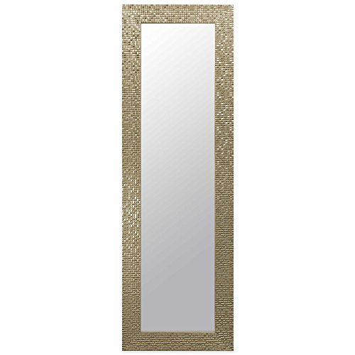 Door Solutions Rectangular Over-the-Door Mirror Champagne 17.5-Inch x 53.5-Inch