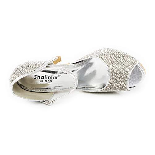 Donna Con Silver Shoes Plateau Shalimar tFzwS
