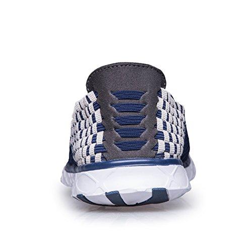 Pooluly Mens Water Shoes Sneakers Multifunzionali Scarpe Aqua Leggere Ad Asciugatura Rapida Blu