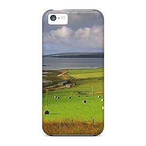 For Iphone 5c Fashion Design Beautiful Farms By The Sea Coast Case-eHeTfdv8255RmoZh