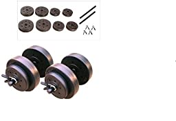 Gold\'s Gym 40 Pound LB Vinyl Cement Dumbbell Weight Set
