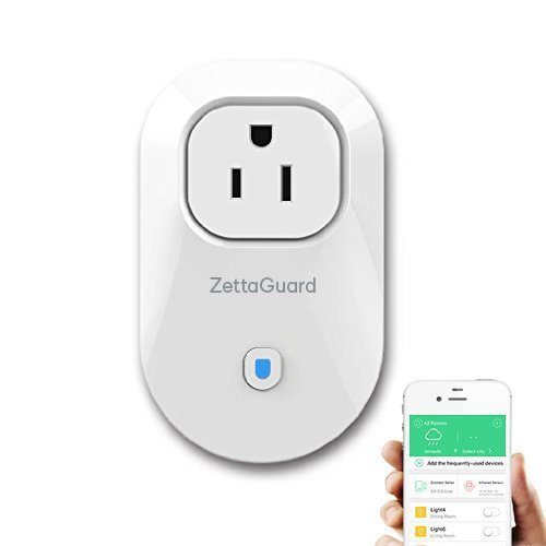 ZettaGuard S25 Wi-Fi Smart Socket Outlet US Plug, Turn ON/OFF Electronics from Anywhere, White (HomeMate-App)