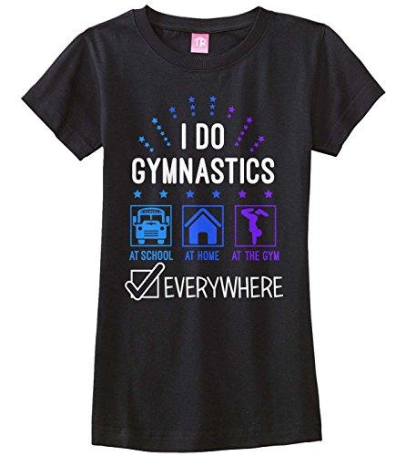 I Do Gymnastics Everywhere Youth T-Shirt Tumbling Flip Handstand