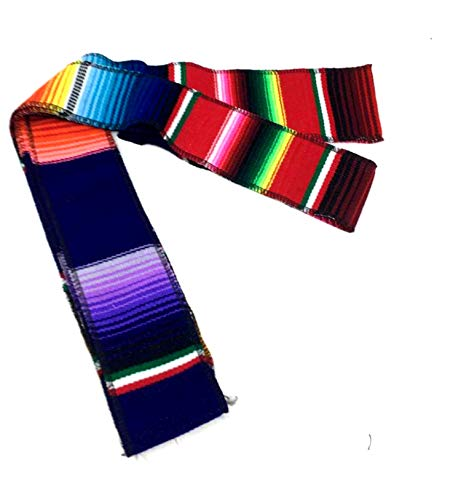 Mexican Belt Sash 84 X 2 Inches TRICOLOR Each Mexican Fiesta Coco Theme Party DAY DEAD Head Band Table Decor