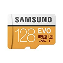 Samsung 100MB/s MicroSD EVO Memory Card with Adapter 128 GB (MB-MP128GA)