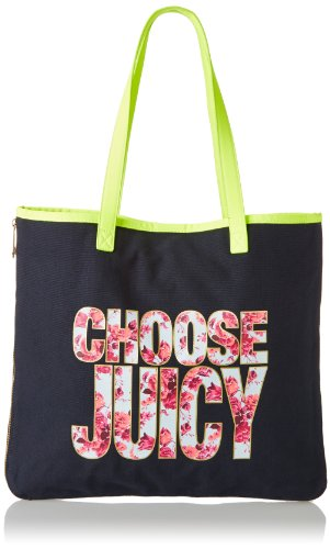 Juicy Couture Silverlake Beach Item Canvas Tote, Regal