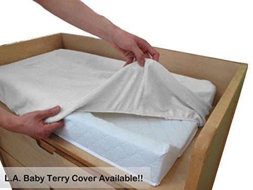 """41ytz9u2ZVL - LA Baby Waterproof Contour Changing Pad, 32"""" - Made In USA. Easy To Clean W/Non-Skid Bottom, Safety Strap, Fits All Standard Changing Tables/Dresser Tops For Best Infant Diaper Change"""