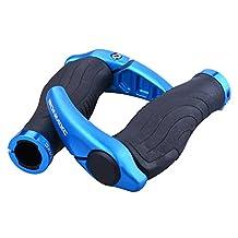 Bonmixc Ergonomic Design Bike Grips, Aluminum Alloy Locking Ring Bike Handlebar Grips For MTB BMX Floding Bike