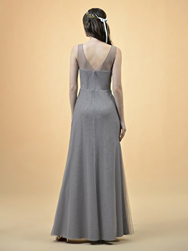 Bridesmaid Sleeveless Long Gown Dress Party Dress A Tulle Alicepub Red Tango Line Prom Evening HtaxA