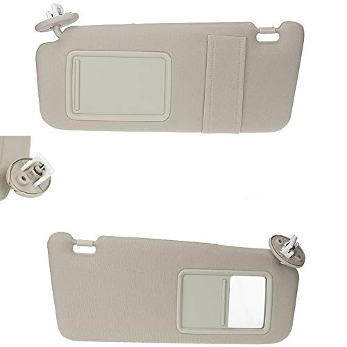 Left & Right Sun Visor for 2009-2016 Toyota Venza with Sunroof 74310-0T022-A1 Beige