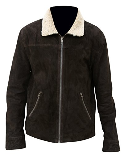 Walking Smoke Jacket Collar 5 Fur Grimes Leather Season Red Suede The Dead Rick qEdwwCO