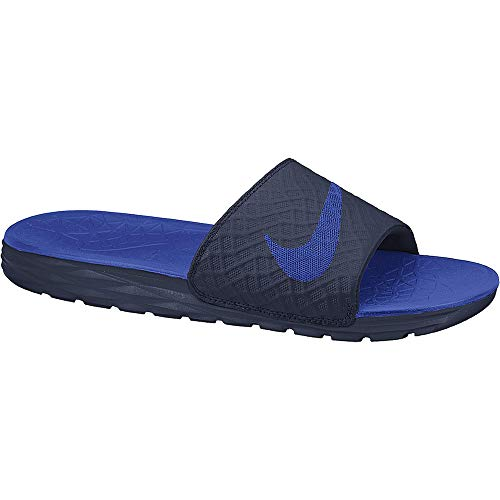 Nike Men's Benassi Solarsoft Slide Athletic Sandal, Midnight Navy/Lyon Blue, 15 D(M) US ()