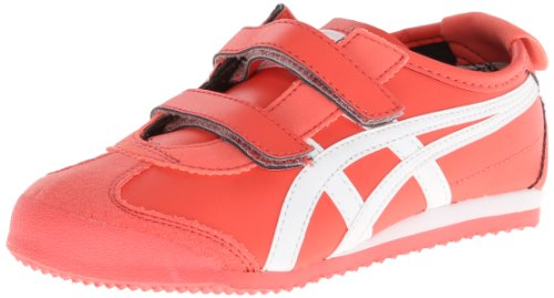 Onitsuka Tiger Mexico 66 Baja PS Fashion Sneaker (Toddler/Little Kid),Hot Coral/White,2.5 M US Little Kid