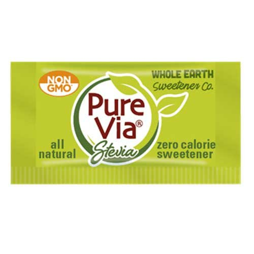 Stratas Foods PureVia Single Serve Packet Sweetener -- 1000 per case.