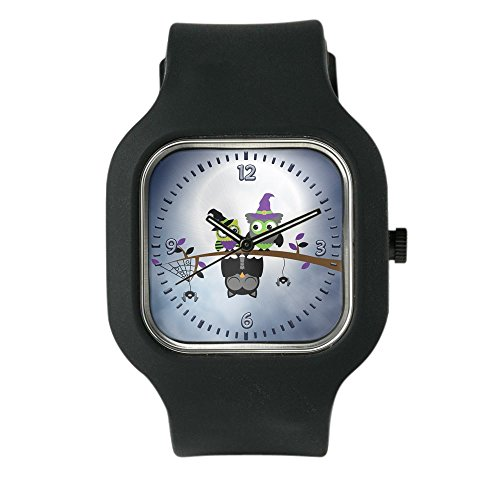 Black Fashion Sport Watch Little Spooky Vampire Owl with Friends