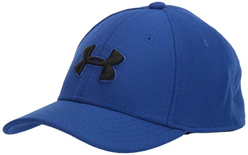 Under Armour Boy's Blitzing 3.0 Cap, Royal (400)/Black, Youth Small/Medium
