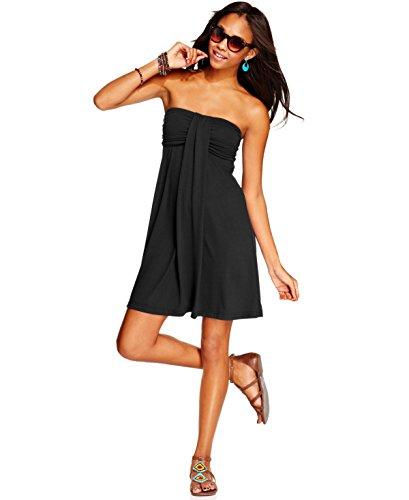 Hula Honey Black Strapless Swimwear Cover Up Dress L