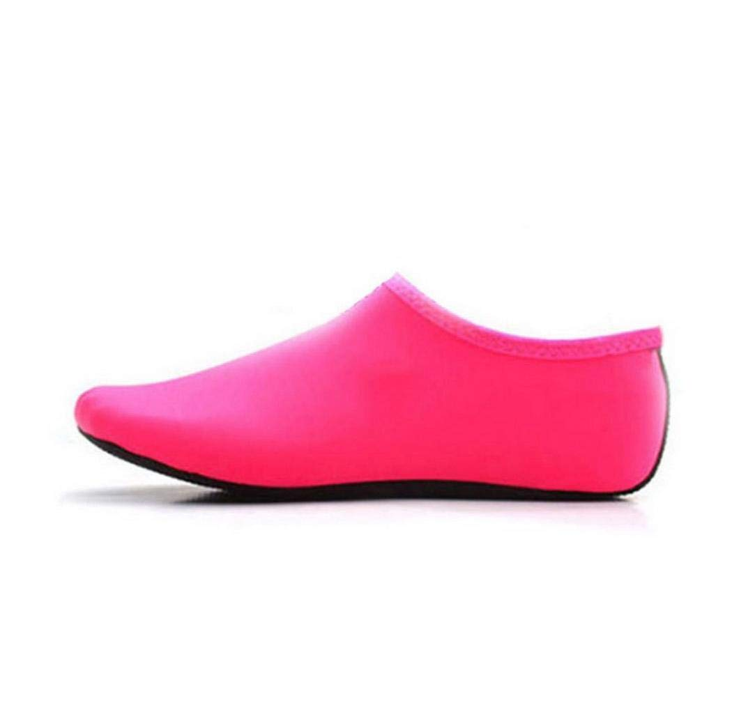 evelove Adults Anti-Slip Water Shoes Barefoot Beach Diving Quick-Dry Socks Water Shoes Pink