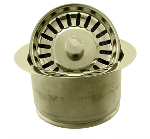 InSinkErator Style Extra-Deep Disposal Flange and Strainer in Polished Brass