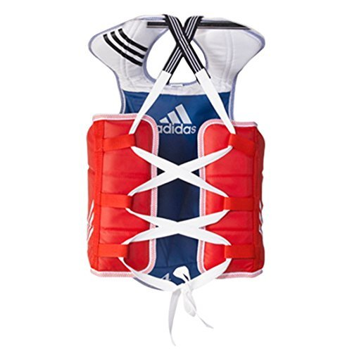 Adidas Chest Protector - Adidas Taekwondo Chest Guard Reversible Hogu Body Protector Chest Protector WTF Approved XS to XL (4.L(170cm-190cm or 5'7