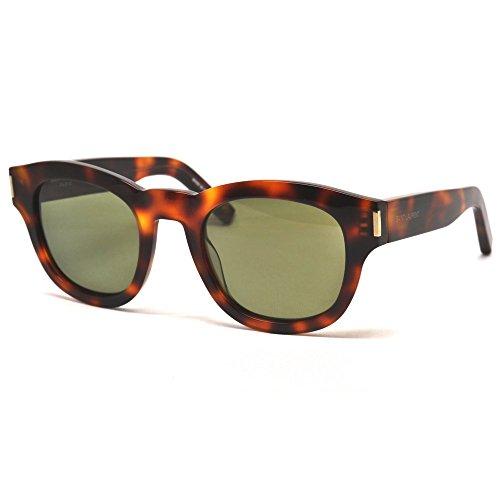 Saint Laurent Women's Bold 2 Mineral Glass Sunglasses, Black/Smoke, One - Laurent 1 Saint Sunglasses Bold