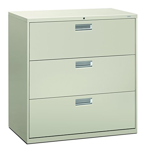 - HON 693LQ 600 Series 42-Inch by 19-1/4-Inch 3-Drawer Lateral File, Light Gray