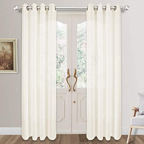 Editors' Choice: VOILYBIRD Palma 108 Inches Long Bronze Grommet Semi Sheer Curtains 52''W x 108''L