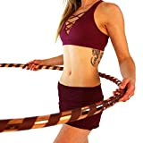 Weighted Hula Hoop for Exercise and Fitness - 42' Diameter Regular Adult