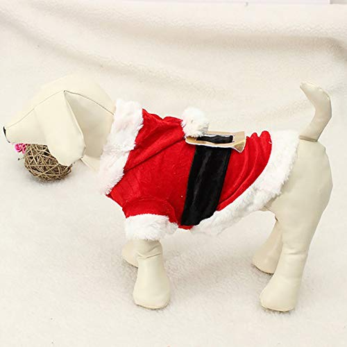 Claus Santa Pitcher - HHmei Christmas Pet Dog Clothes Santa Doggy Costumes Pet Apparel - Christmas pet Dog Santa Claus Clothes, Decorative-Pitchers | Christmas Silver Table Gold White Wooden Yard Under Teal Deer Set