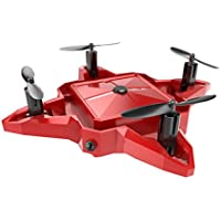 S11 Mini Drone WIFI FPV RC Quadcopter HD Camera 2.4G Gyro Remote Control Selfie Foldabe Quadcopter Mini UFO Toys For Kids and Adults,With 3.7V 450mAh Lithium Battery (red)