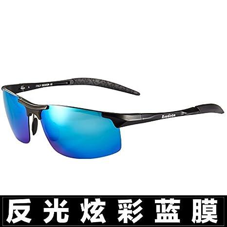 LXKMTYJ Los hombres con gafas de sol Gafas de sol de verificación óptica offset miopía cara