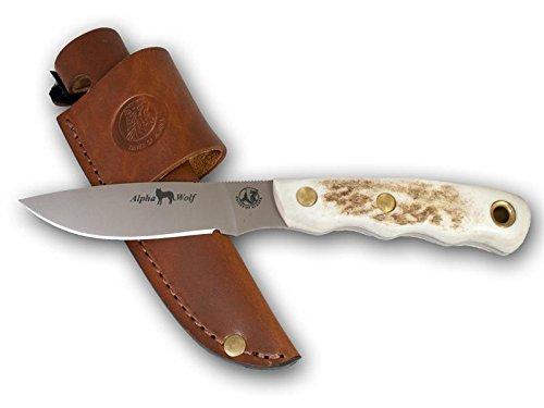 Combo S30v Blade - Knives Of Alaska 00371FG Alpha Wolf S30V/Muskrat Combo Stag
