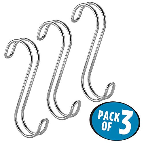 Interdesign 06592 Classico S Hook, Set of 3 - Chrome