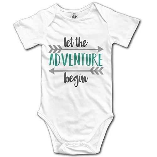 OASCUVER Let New Adventure Begin Cotton Infant Bodysuit Playsuit Union Suit Baby Short-Sleeve Bodysuit White]()