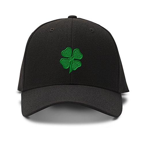 Four Leaf Clover Embroidery Adjustable Structured Baseball Hat ()