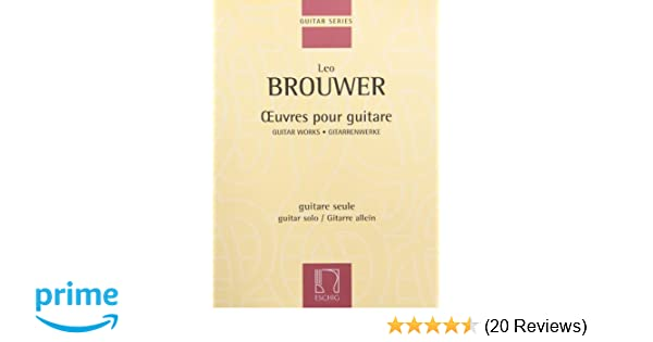 Musical Instruments & Gear Brouwer Oeuvres Pour Guitare Solo Guitar Works*