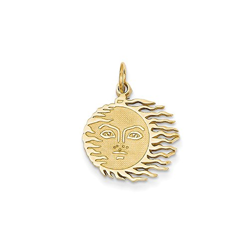 Perfect Jewelry Gift 14k Flaming Sun - Sun Flaming Charm