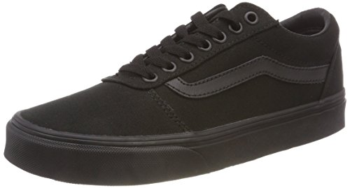 - Vans Men's Ward Canvas Trainers, Black/Black, 11 US