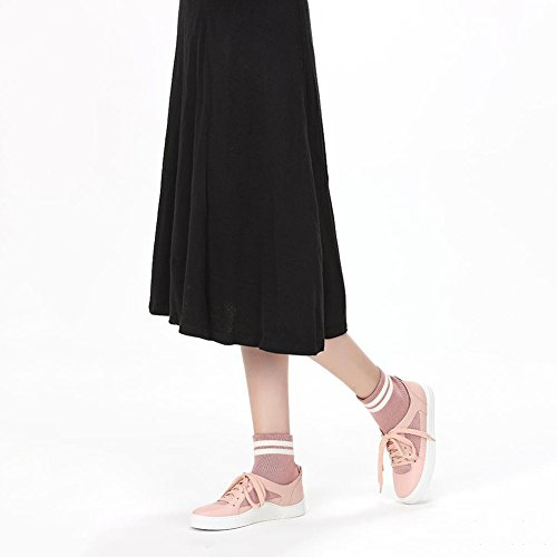 Tacchi Bassi 2 L Donna Disponibili Black UK3 Pink Stivali Scarpe Scarpe LIANGJUN UK4 Colore L Dimensioni Ginnastica Piatto Da 225mm Da EU35 5 Caviglia 220mm 7 Colori Stivaletti Primavera EU34 xvZqw