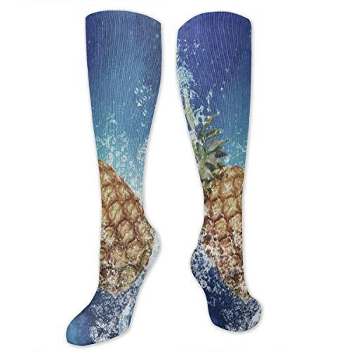 Women's Fruit Juicy Pineapple Knee High Socks Calf Socks Stockings